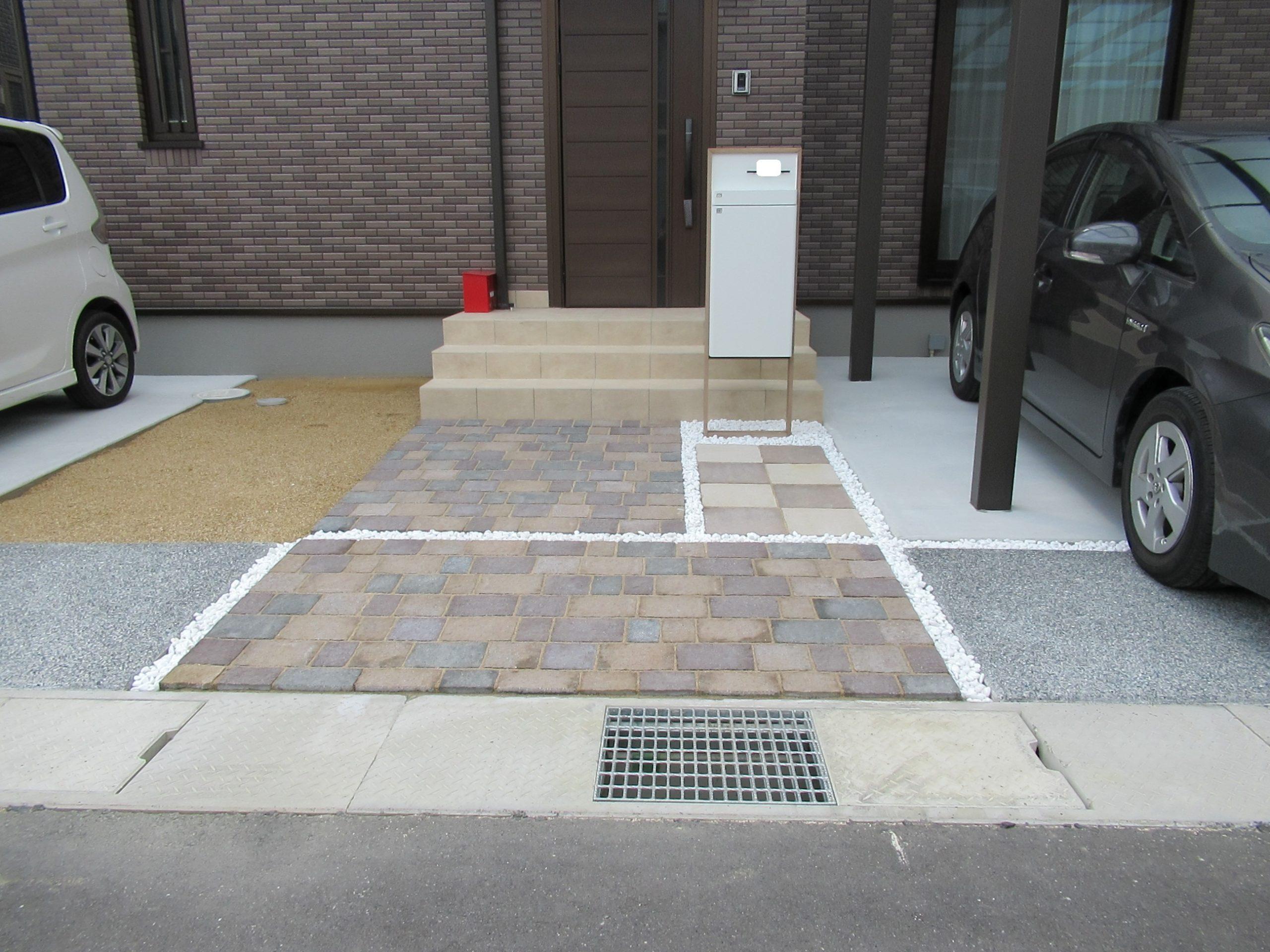 倉敷市 新築外構工事一式が完成しました。